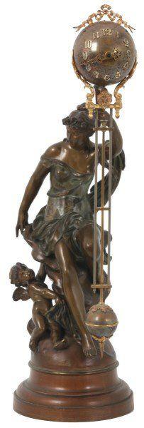 Ansonia Figural Swinging Mystery Clock - Fortuna : Lot 152