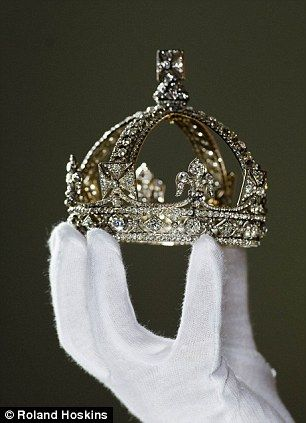Fit for a queen: This small Diamond Crown, as worn by Queen Victoria for her official Diamond Jubilee portrait in 1870.