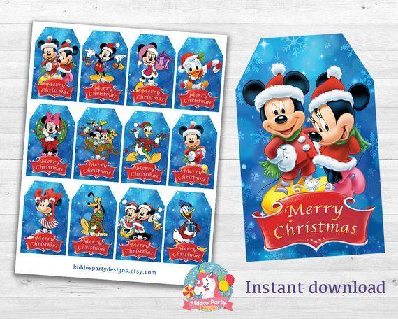 Christmas Gift Tag Printable Disney Gift Tag Printable Template