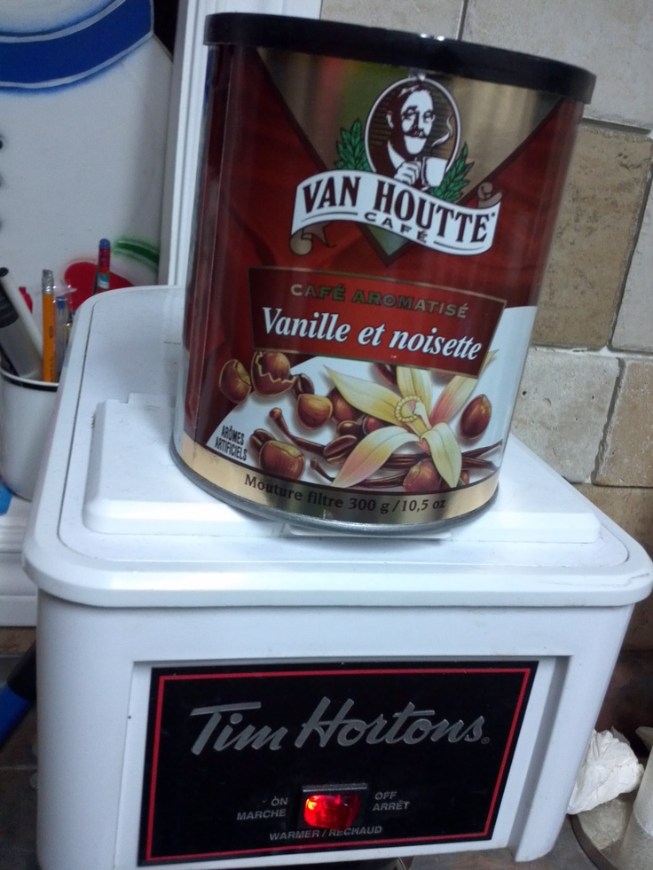 Do coffee right ... Van Houtte's (Vanilla Hazelnut oh yum) + Timmy's coffee maker ... add some Eaglebrand condensed milk & OMG, so delicious!