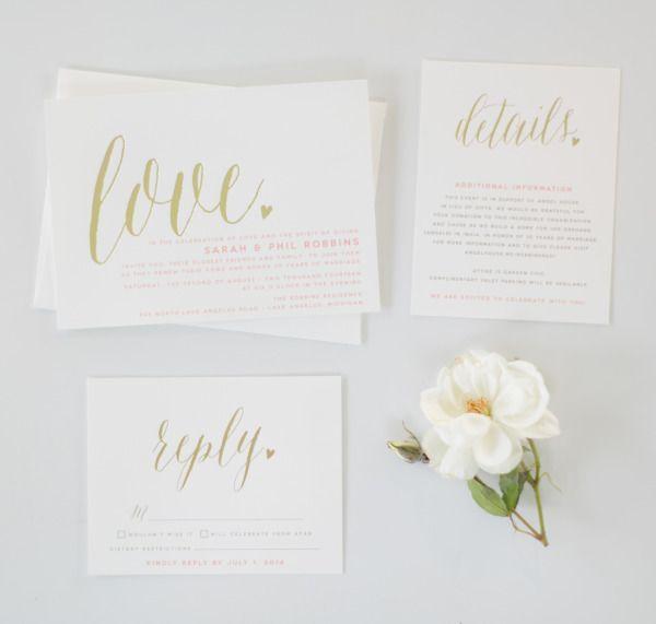 Bryce Covey; 21 Chic Minimalistic Wedding Invitations - Bryce Covey