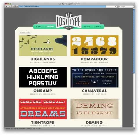 The Lost Type Co-Op is a Pay-What-You-Want Type foundry...you can even type in '$0′ for a free download.