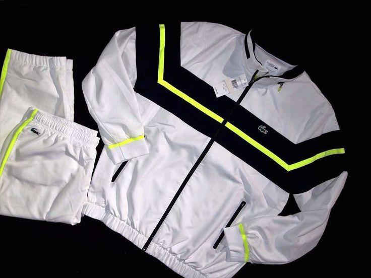 Lacoste men's sport chest striped track suit set size 6/XL NEW on SALE  #Lacoste #TracksuitsSweatsset