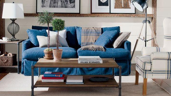 sofá azul marinho - Pesquisa Google