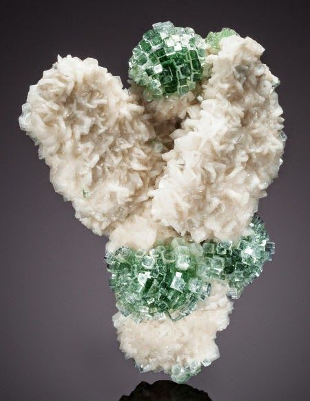 Apophyllite-(KF), a silicate mineral that appears in volcanic rocks; India.