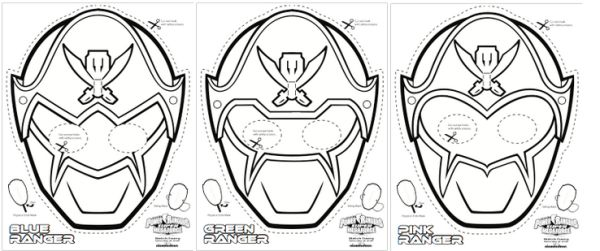 SUPER MEGA Power Rangers Printable – Coloring Masks