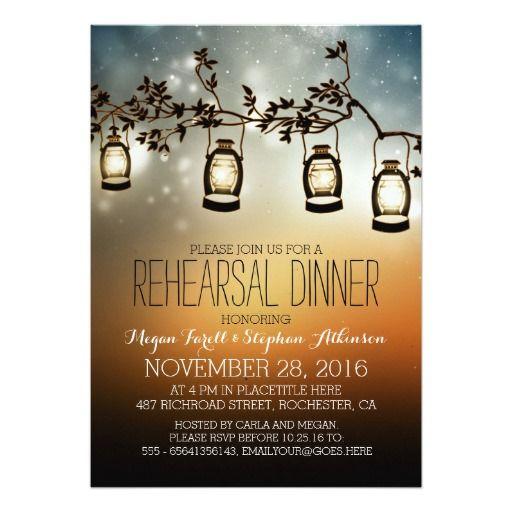 Rehearsal Dinner Invitation Wording - lantern rehearsal dinner invitations