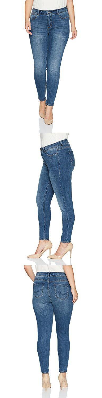 Rebel Wilson X Angels Women's Plus Size The Pin up Mid Rise Super Skinny Jean, LA Brea, 14W