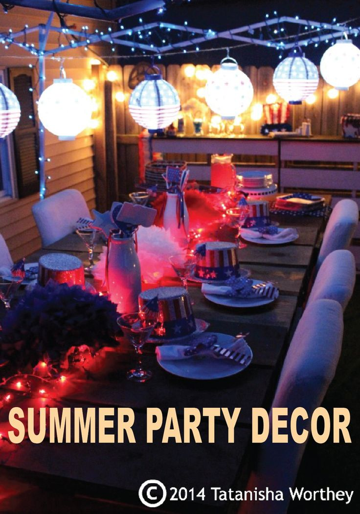 Throw an awesome 4th of July cookout with these décor inspirations!