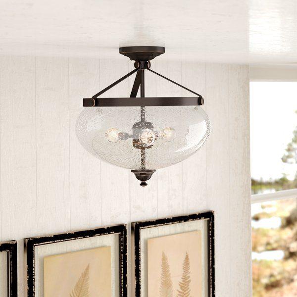 You Ll Love The Harborcreek 3 Light Semi Flush Mount At Birch Lane With Great Deals Modern Farmhouse Lighting Semi Flush Ceiling Lights Bedroom Ceiling Light