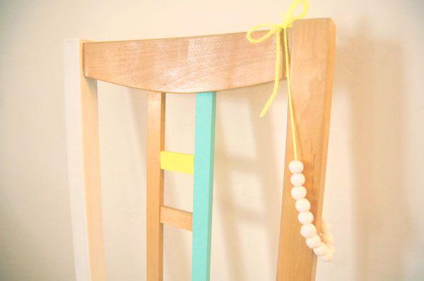 diy peindre une chaise en bois vuelta al cole back to