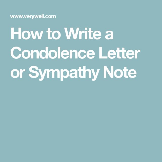 how to write a condolence letter in english