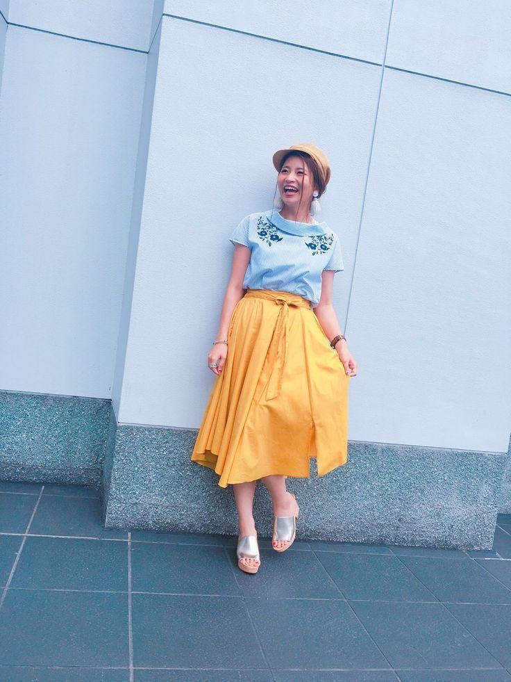 【京都店】☆SALE開催中☆ストライプ刺繍カウルネックをフェミニンにコーデ☆完了