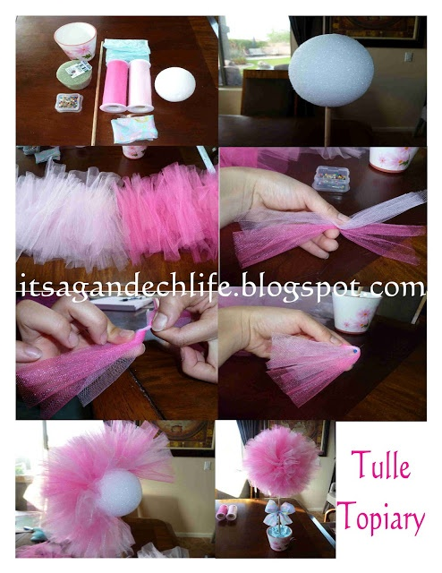 Its a Gandech Life!: TULLE TOPIARY TUTORIAL