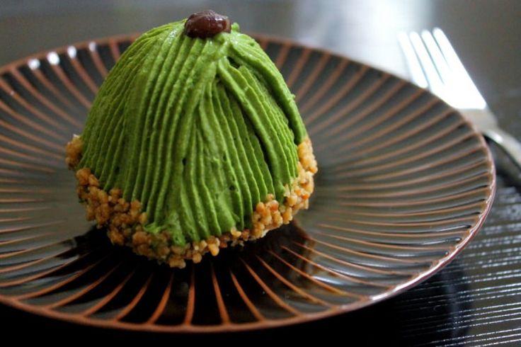 Uji Matcha Mont Blanc (Chestnut Cake), Tsujirihei Honten(辻利兵衛本店)