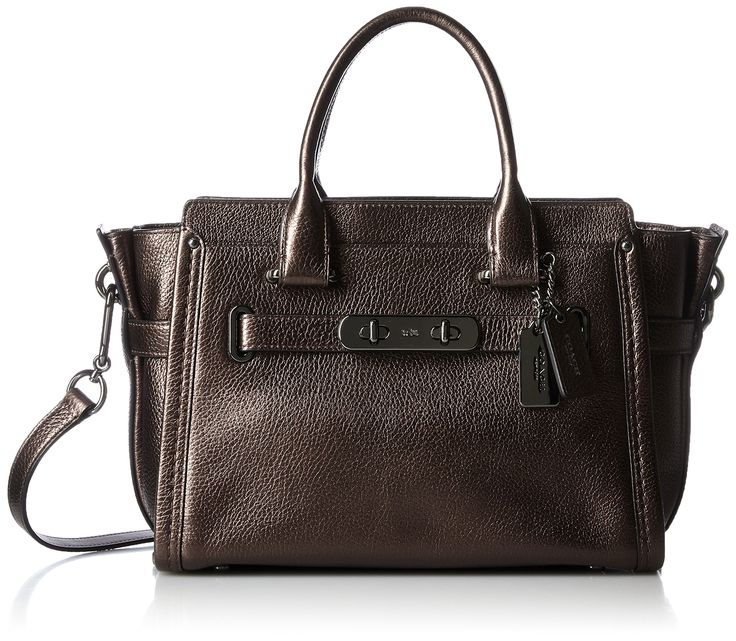 COACH Women's Pebbled Leather Coach Swagger 27 DK/Bronze Satchel. Made in USA or Imported.