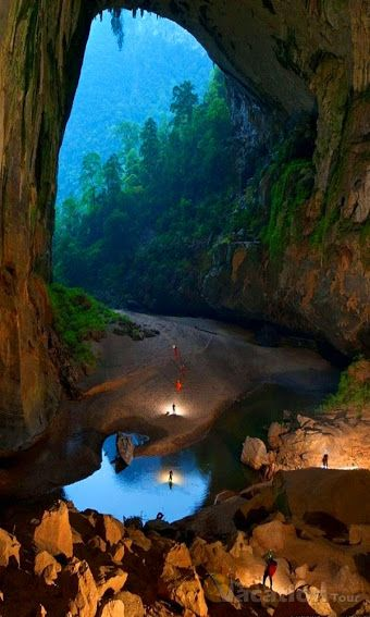 Son Doong Cave (Vietnam) -  this cave is near Phong Nha Ke Bang so that  we can visit two placeat once time. We can follow to Highway 15 to go there.