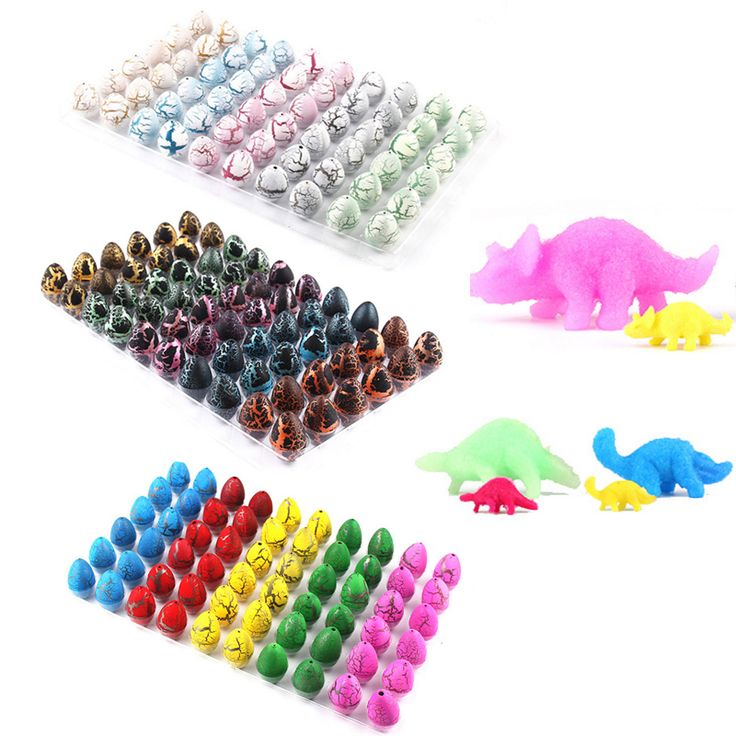 60pcs/lot Colorful Baby Novelty Gag Toys Children Toys Cute Magic Hatching Growing Dinosaur Eggs For Kids Educational Toys Gifts