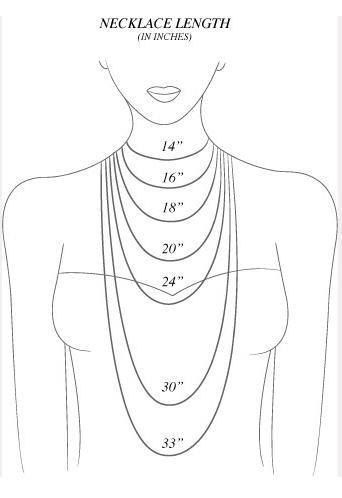 Necklaces length. Good to know!- Great for helping DIY jewelry making.-