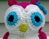 Crocheted Stuffed Owl Toy Animal Amigurumi Ready to Ship