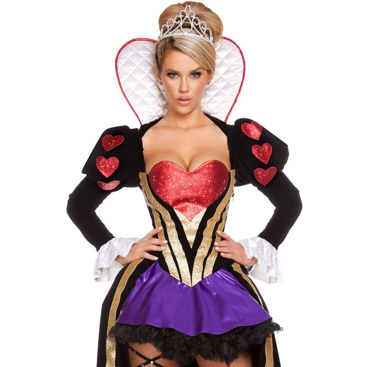 exotic apparel 2017 high quality sexy deluxe fantastic women halloween costumes sultry heartless patchwork queen costume - High Quality Womens Halloween Costumes