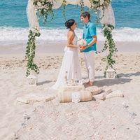 Выездная церемония бракосочетания на пляже