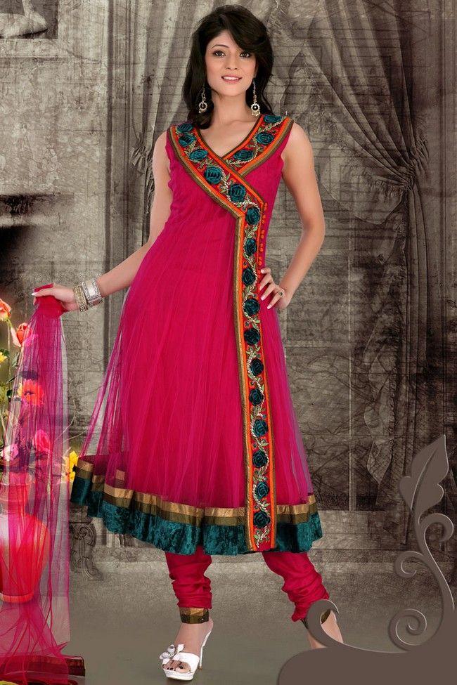 Pink #Designer #Salwar Kameez   Check out this page now :-http://www.ethnicwholesaler.com/salwar-kameez