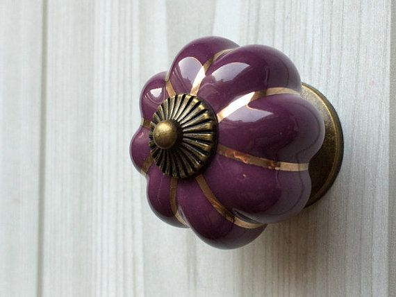 Hey, I found this really awesome Etsy listing at https://www.etsy.com/listing/207082532/purple-cabinet-knobs-pumpkin-knobs