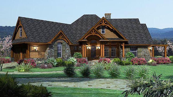 House Plan 65862   Craftsman   Tuscan    Plan with 2091 Sq. Ft., 3 Bedrooms, 3 Bathrooms, 2 Car Garage