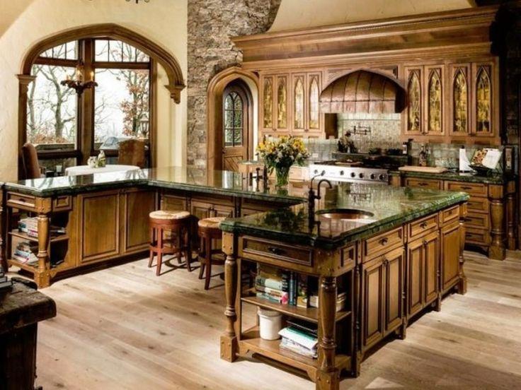 81 mejores imágenes de Kitchens en Pinterest Casas en venta - cocinas grandes de lujo