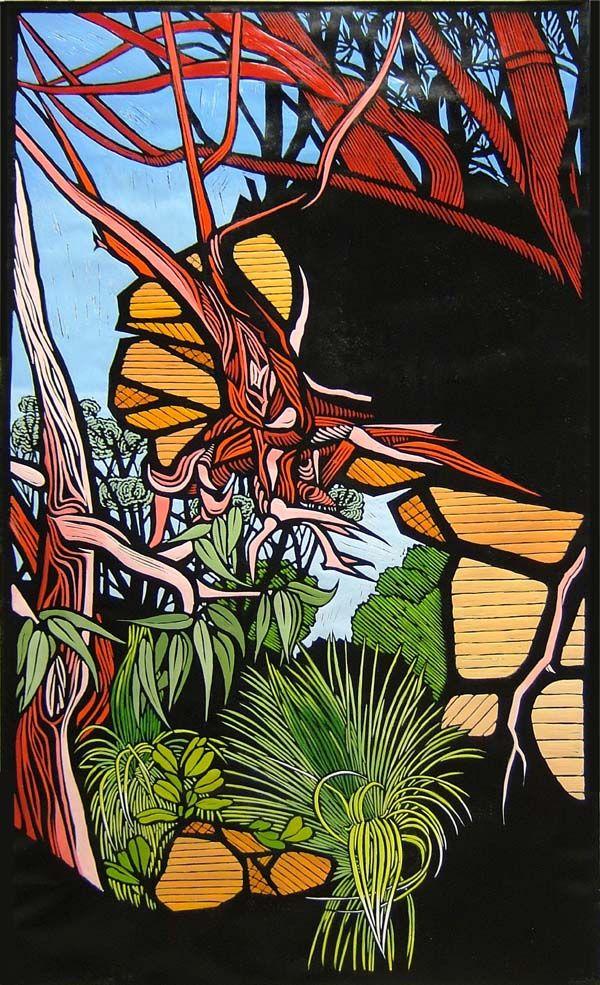 The Ridge by Gail Kellett, 75cm w x 125cm h