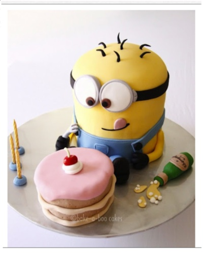 Minion from Despicable Me Cake #cute #adorable #want I think it's too cute to eat!