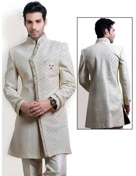 Buy ethnic look indo western sherwani online http www for Indo western wedding dress for men