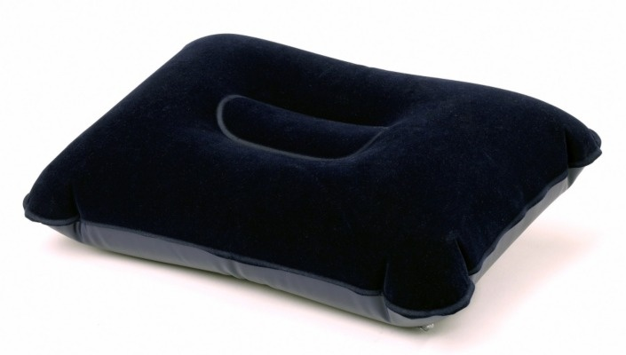 The Halfords Flocked Inflatable pillow is ideal for camping with some added comfort