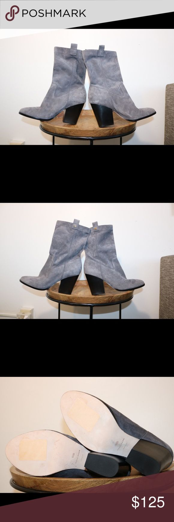 NWOT Cole Haan Grey Suede Boots Brand new. Never worn outside of the store. Cole Haan Shoes Heeled Boots