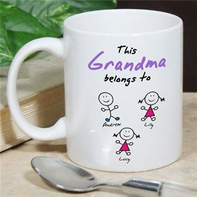 Personalized Belongs to Coffee Mug | Personalized Gifts for Grandma