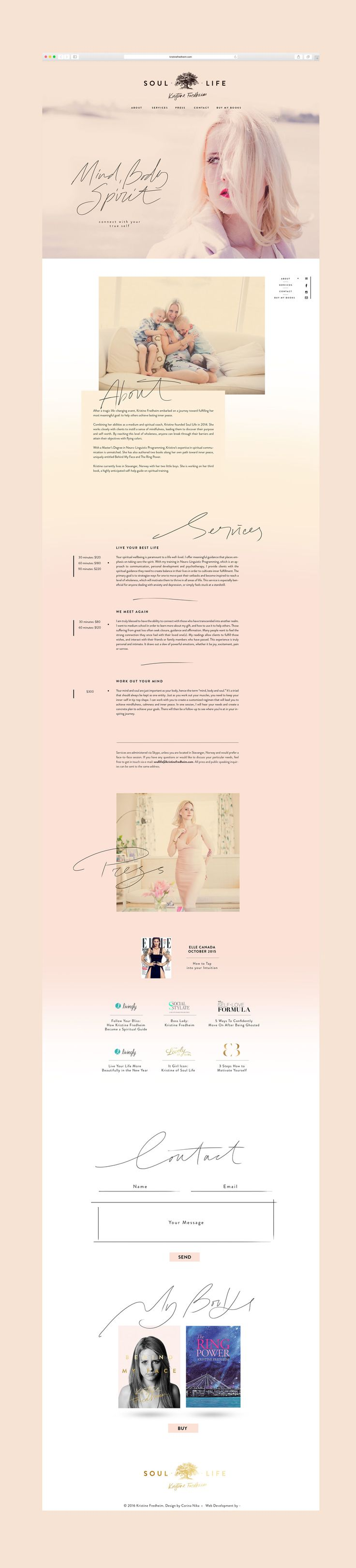 Kristine Fredheim Website - Cocorrina by Corina Nika