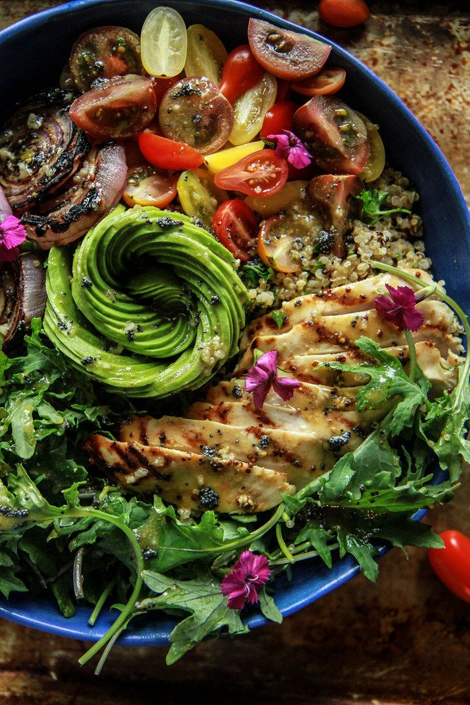 California Chicken Quinoa Bowl from HeatherChristo.com