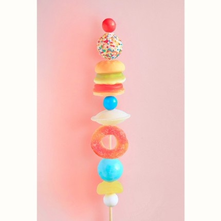 Candy Kebab, would be a great activity for kids to do at a party and take home