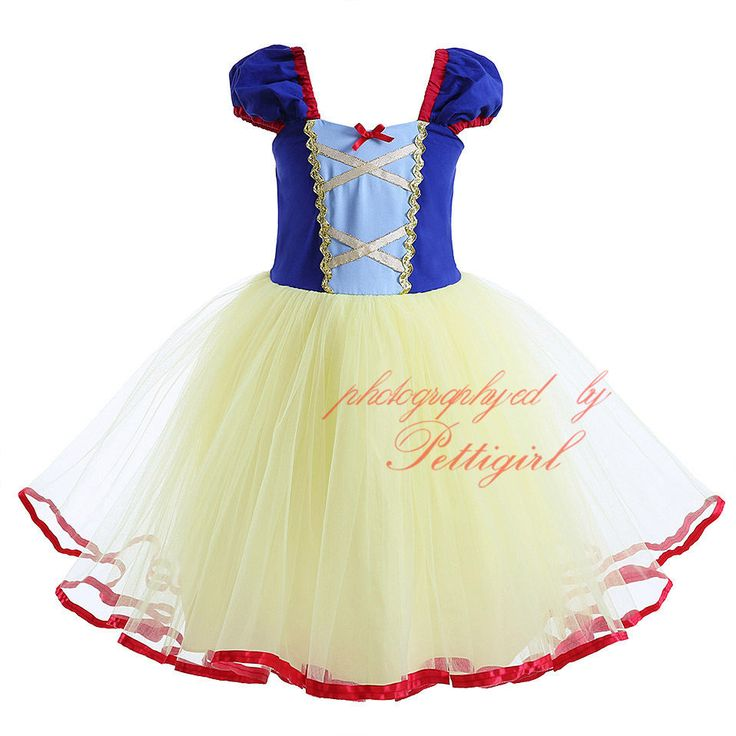 Baby Girls Snow White Princess Fancy Dress Fairytale Queen Costume Party Pageant | eBay