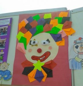 clown bulletin board idea