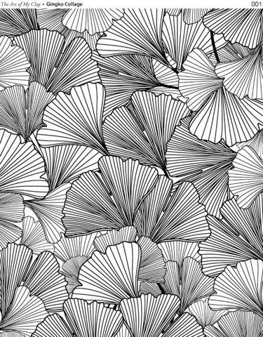 Gingko Collage - Shades of Clay