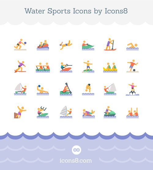 Free Water Sports Icons