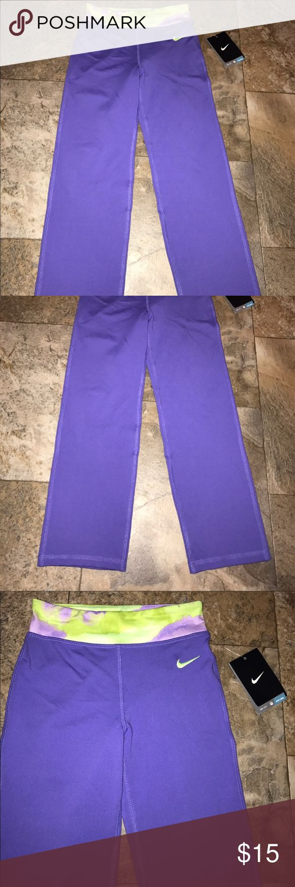 Nike yoga pants girls size 6 NWT Girls Nike yoga pants size 6 dry fit new with tags    10% off on ANY two items purchased AND shipped together.  15% off ANY three items purchased AND shipped together! Nike Bottoms Leggings