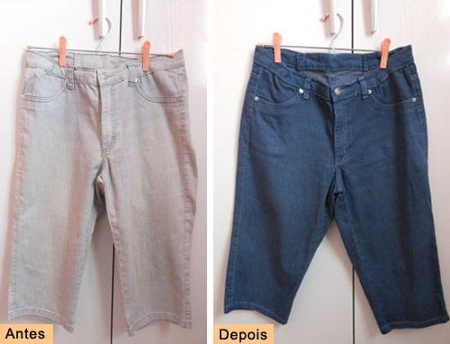#DIY How to dye denim  See here; http://customizando.net/como-tingir-jeans/