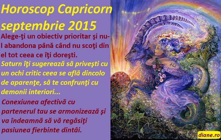 Horoscop Capricorn septembrie 2015