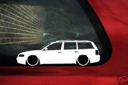 2x LOW VW Passat B5 estate wagon ,1.8t,20v Turbo,v5 outline silhouette stickers