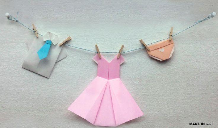 #origami #dressing #patron #tuto #feteMeres #feteDesMeres #cadeauMaman