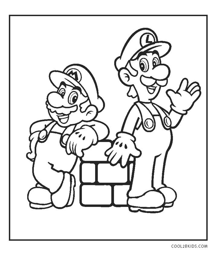 Free Printable Mario Brothers Coloring Pages For Kids Di 2020