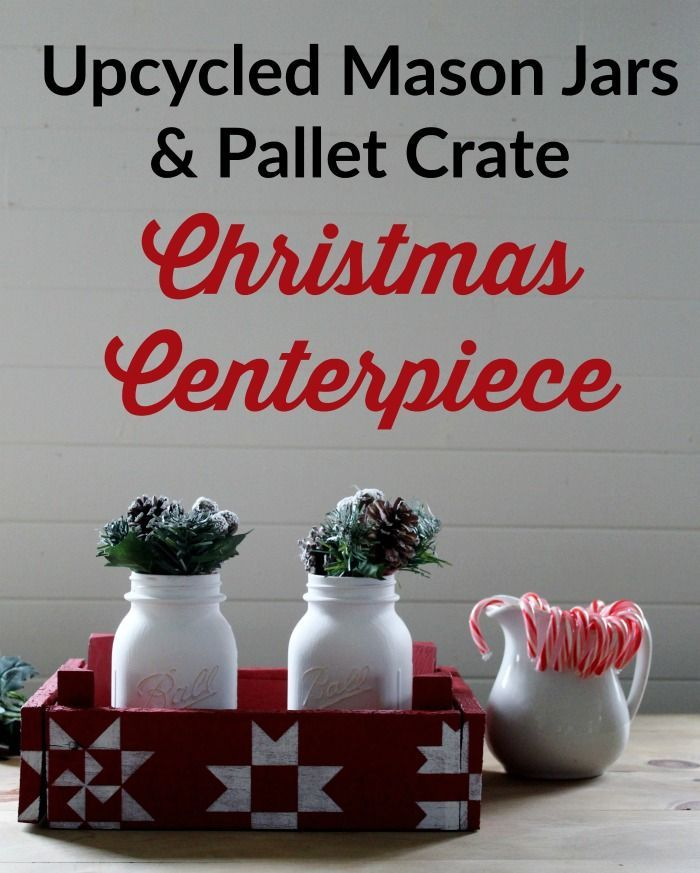Knick of Time | DIY Christmas Centerpiece with an Upcycled Pallet Crate | http://knickoftime.net